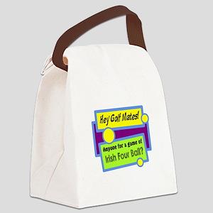 Irish Four Ball Golf Canvas Lunch Bag