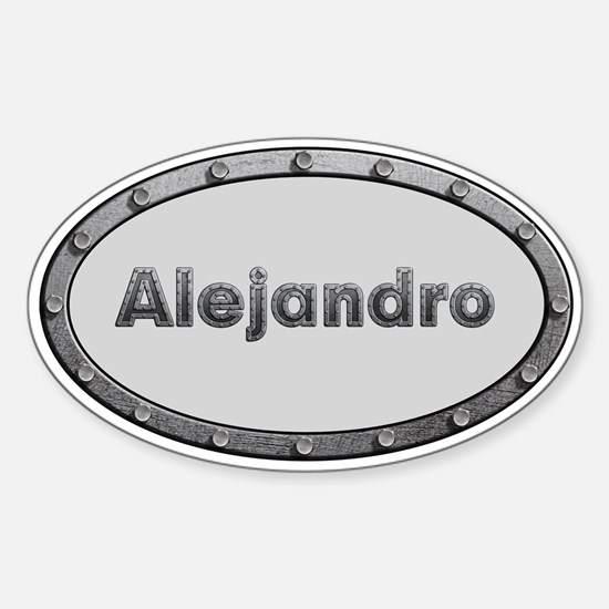 Alejandro Metal Oval Decal