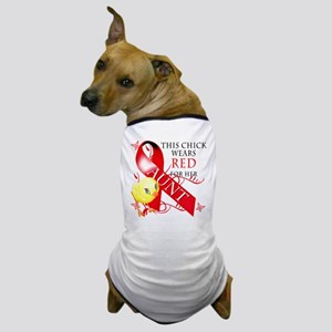 This Chick Wears Red For Her Aunt Dog T-Shirt