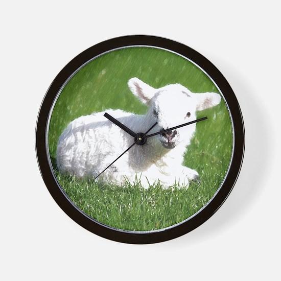 Easter Lamb 01 Wall Clock
