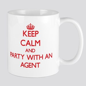 Keep Calm and Party With an Agent Mugs