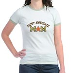 Most Awesome Mom Jr. Ringer T-Shirt