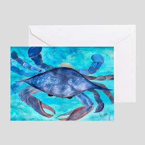 Blue Crab Art Greeting Card