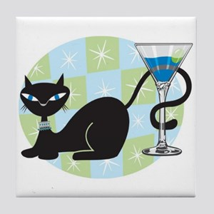 Cocktail Kitty Tile Coaster