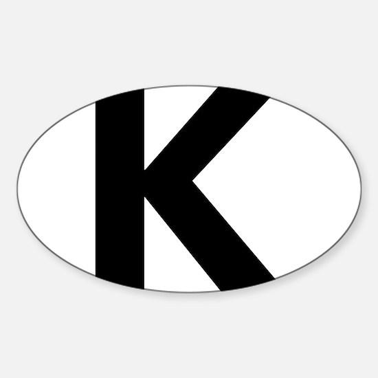 Letter K Black Decal