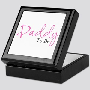 Daddy To Be (Pink Script) Keepsake Box
