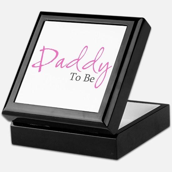 Daddy To Be (Pink Script) Keepsake Box