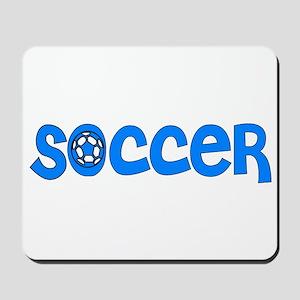 Blue Soccer  Mousepad