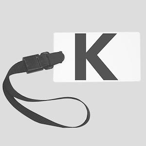 Letter K Dark Gray Luggage Tag