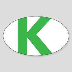 Letter K Green Sticker