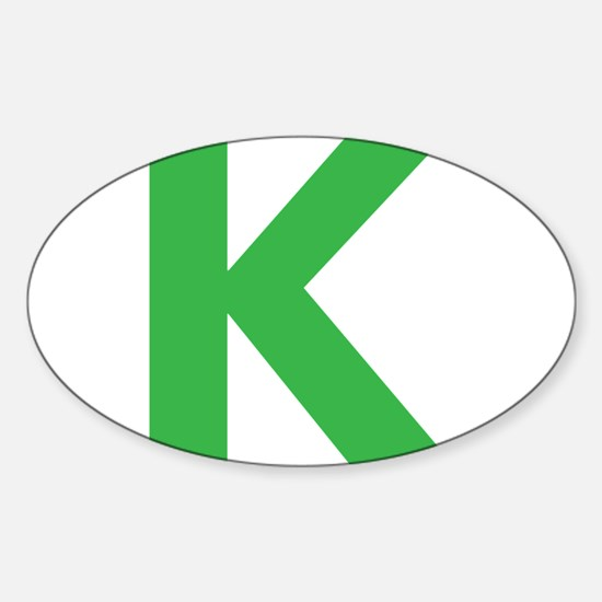 Letter K Green Decal