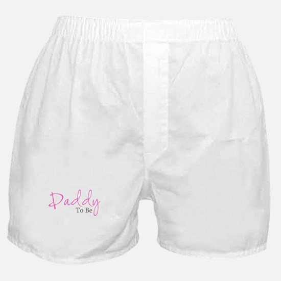 Daddy To Be (Pink Script) Boxer Shorts