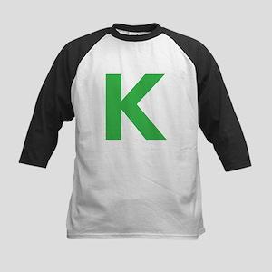 Letter K Green Baseball Jersey