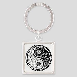 Yen Yang Art Design  Square Keychain