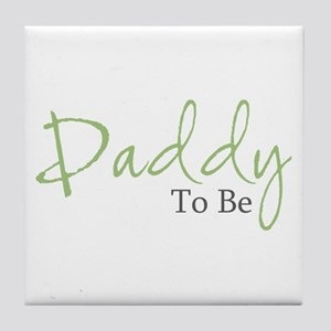 Daddy To Be (Green Script) Tile Coaster