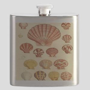 Beach Seashell Artwork Flask