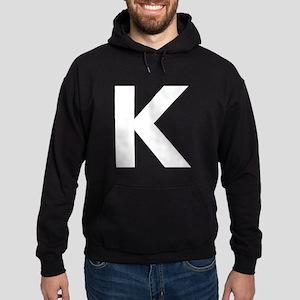 Letter K White Hoodie