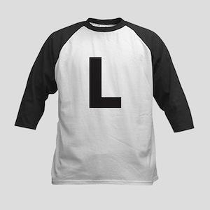 Letter L Black Baseball Jersey