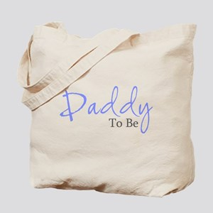 Daddy To Be (Blue Script) Tote Bag