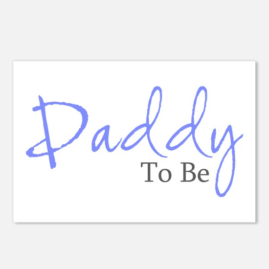Daddy To Be (Blue Script) Postcards (Package of 8)