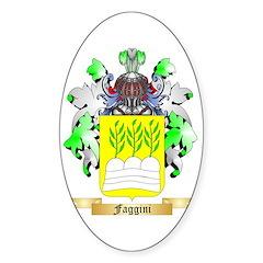 Faggini Sticker (Oval 10 pk)