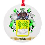 Fagette Round Ornament