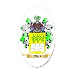 Fages Oval Car Magnet