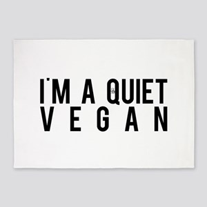 I'm A Quiet Vegan 5'x7'Area Rug