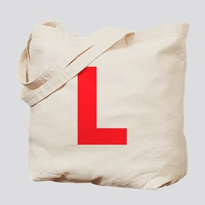 Letter L Red Tote Bag