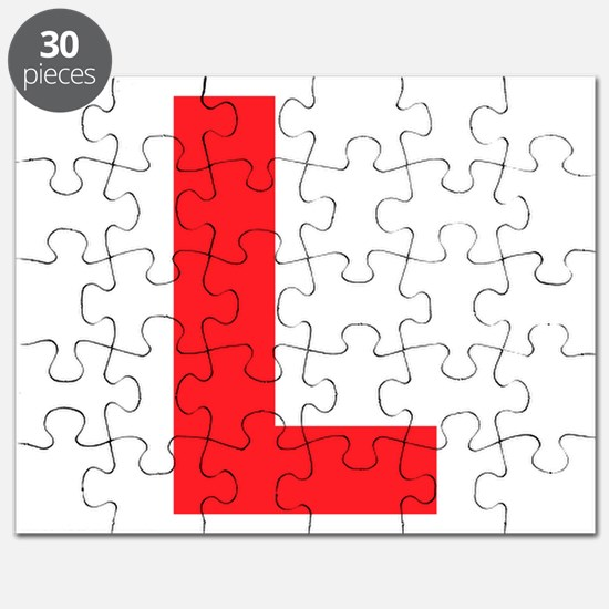 Letter L Red Puzzle