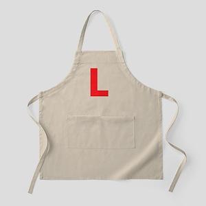 Letter L Red Apron