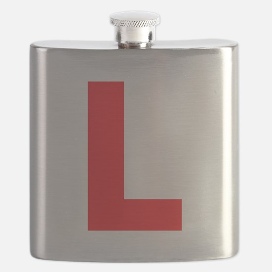Letter L Red Flask