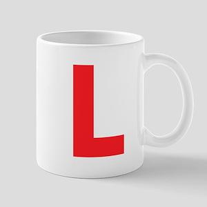 Letter L Red Mugs