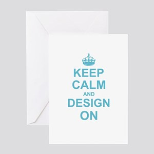 Keep Calm and Design on Greeting Cards
