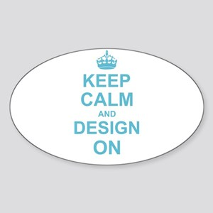 Keep Calm and Design on Sticker