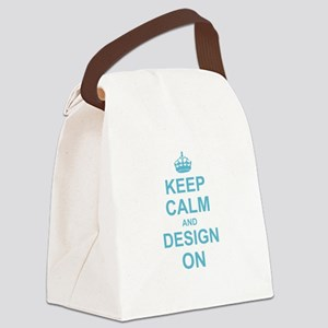 Keep Calm and Design on Canvas Lunch Bag