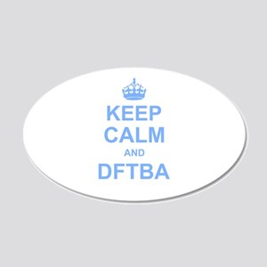 Keep Calm and DFTBA Wall Sticker