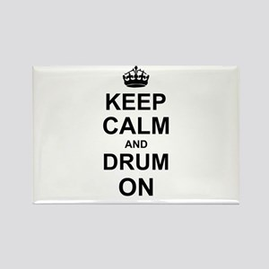 Keep Calm and Drum on Magnets