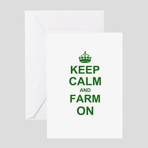 Keep calm and Farm on Greeting Cards