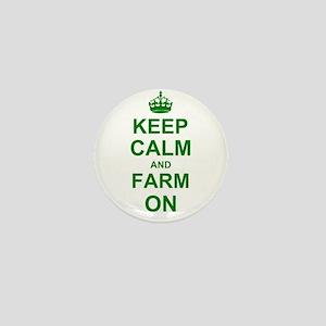 Keep calm and Farm on Mini Button