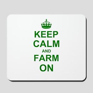 Keep calm and Farm on Mousepad