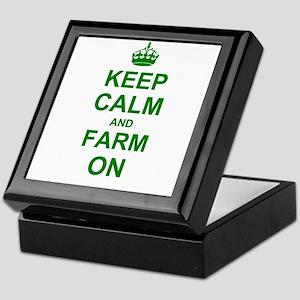 Keep calm and Farm on Keepsake Box