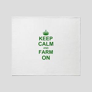 Keep calm and Farm on Throw Blanket