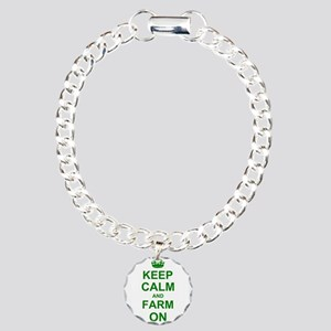 Keep calm and Farm on Charm Bracelet, One Charm