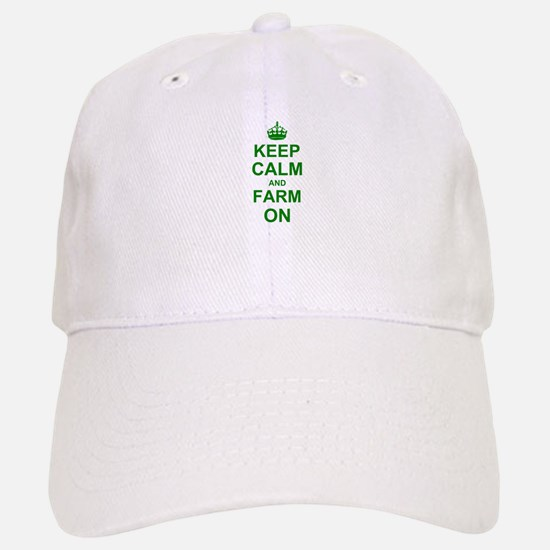 Keep calm and Farm on Baseball Baseball Cap