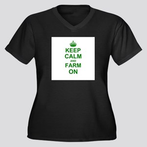 Keep calm and Farm on Plus Size T-Shirt