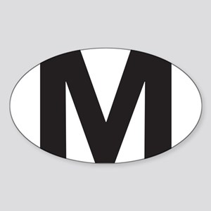Letter M Black Sticker