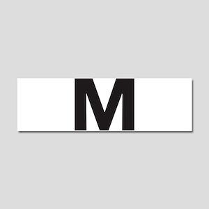Letter M Black Car Magnet 10 x 3