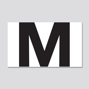 Letter M Black Wall Decal