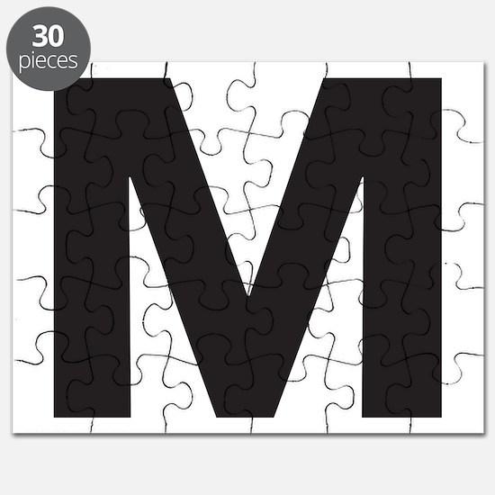 Letter M Black Puzzle